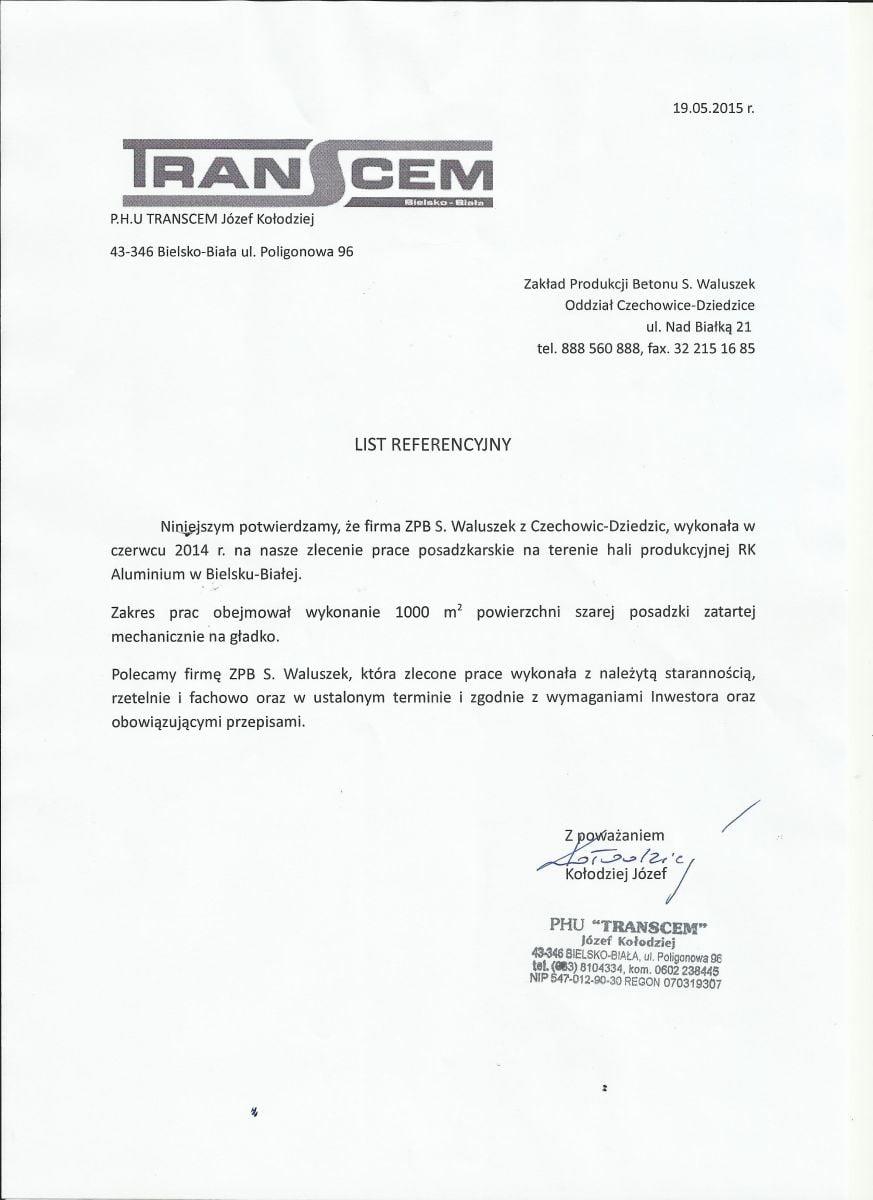 Beton Czechowice - Referencja